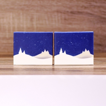 Christmas Tree Hills Landscape Soap Stencil™ set of 2